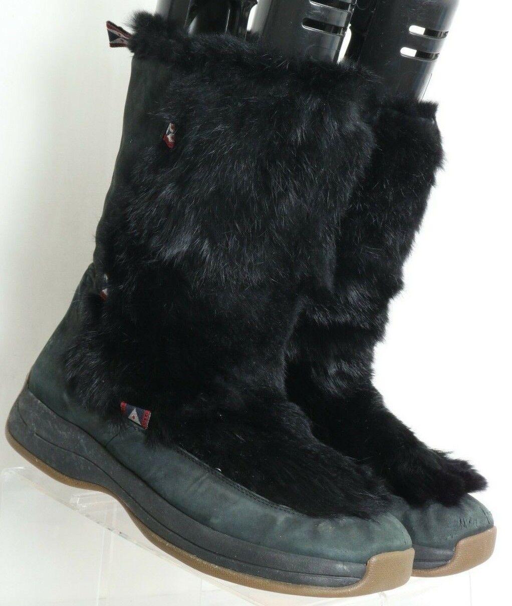 Ulu Negro Nubuck Impermeable Piel De Conejo invierno botas de nieve nos para Mujer 10.5-11