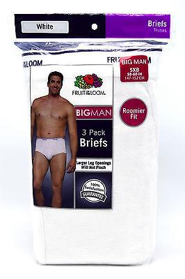 6 Black Gray Big Man 5XB 58-60 Inch Boxer Brief Fruit Of The Loom 5EG 147-152 CM