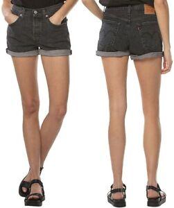 Levi-039-s-Damen-Jeans-Short-501-Grau-W31-W32