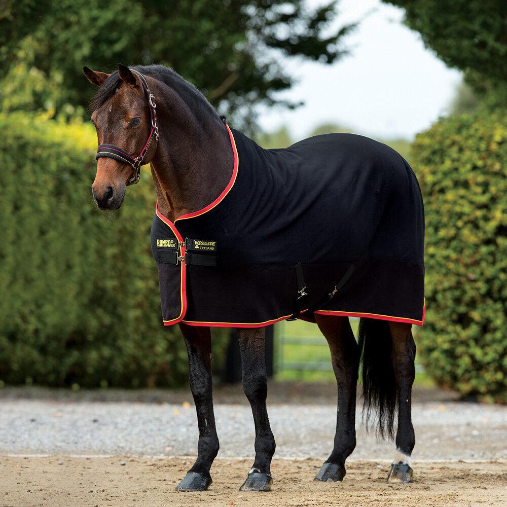 Horseware Rambo Softy Fleece-zwart goud