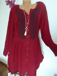 Joe-Browns-Tunic-Blouse-Dress-Women-039-s-plus-Size-Size-44-To-52-Wine-Red-474