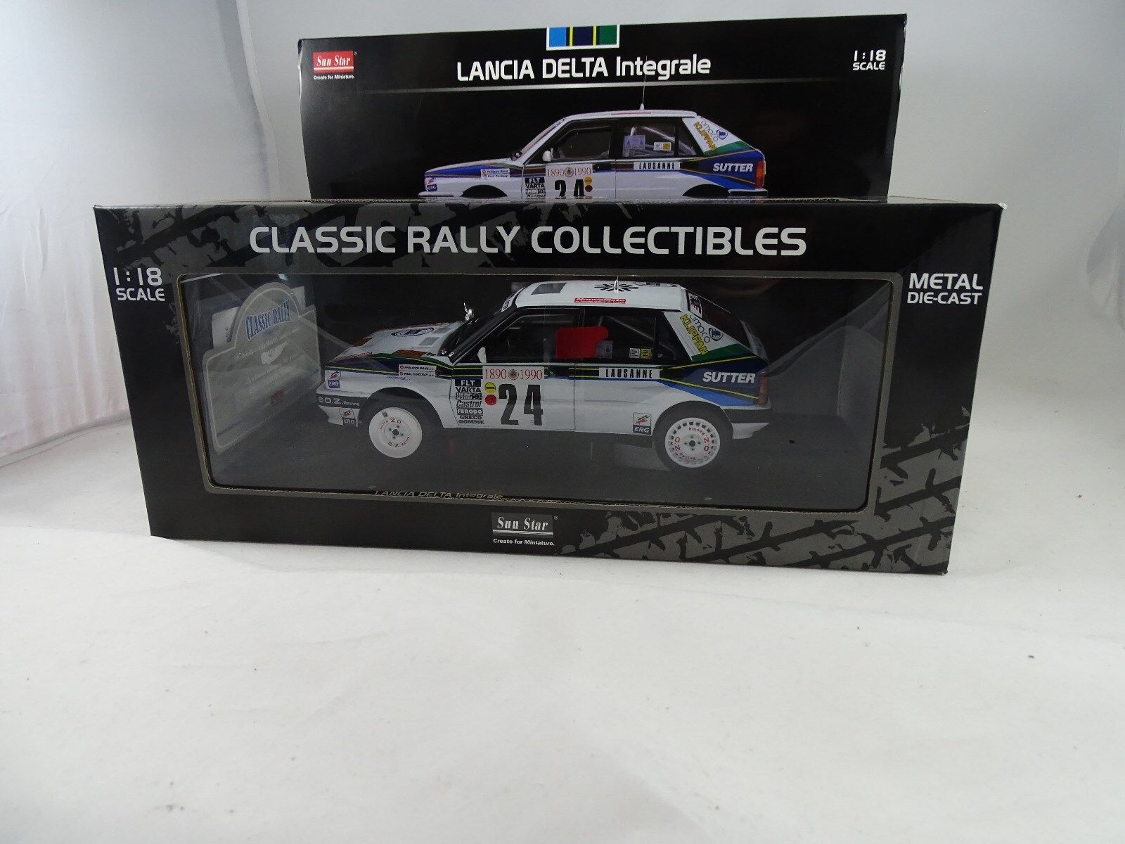 1 18 Sunstar Lancia Delta Integrale   24 Monte voiturelo Rally 1990-Rarity §  offre spéciale