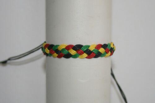 tressé Bracelet brésilien fait main couleur rasta amitié