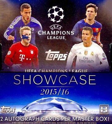 2016-17 Topps Champions League Showcase Soccer Fussball Komplett Base Set 1-200