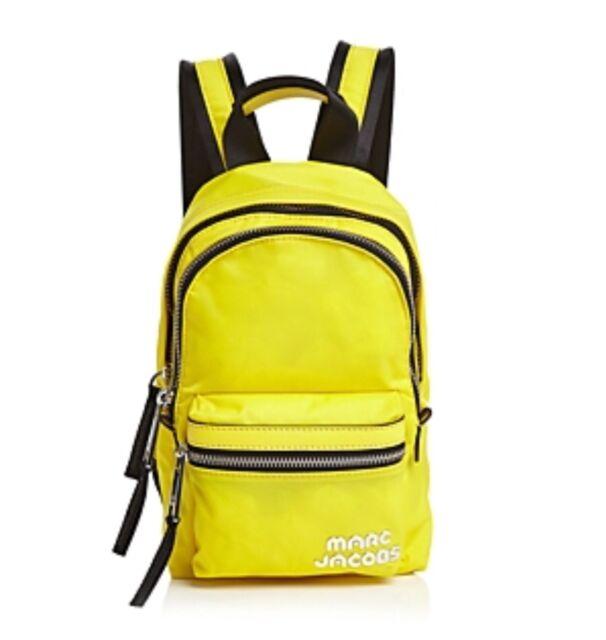 ed44238cb3c Marc Jacobs Mini Trek Nylon and Leather Backpack Daisy Yellow ...