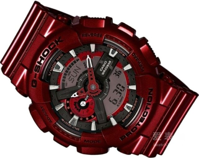 GA-110NM-4A Red Casio Men Watches G-Shock 200M Analog Digital X-Large Resin New
