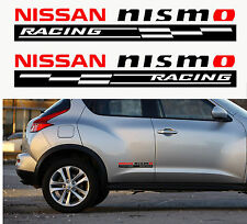 2 X NISSAN NISMO RACING CHECKS -  Body Panel Car Sticker Decal Adhesive SKYLINE