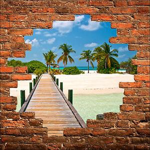 Sticker mural trompe l/'oeil Ile réf 792