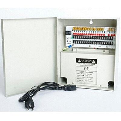 18CH CCTV security camera power supply box 12V DC PTC Fuse 10A 18 CH Channel