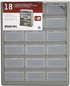 Stack-On DS-18 18 Drawer Storage Cabinet 18 Drawers