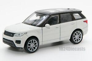Range-Rover-Sport-White-Welly-43698F-escala-1-34-39-Modelo-del-Coche-de-Juguete-Regalo
