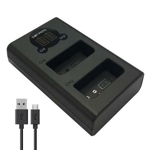 LCD USB Doble Cargador De Batería Para Olympus BLN-1sustituye BCN-1