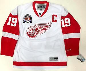 more photos 24092 01c80 Details about STEVE YZERMAN DETROIT RED WINGS 1997 STANLEY CUP REEBOK  PREMIER WHITE JERSEY NEW