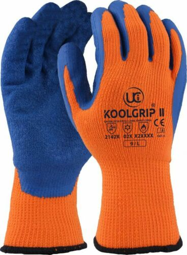 II Thermo-Star Latex Palm Coated Thermal Cold Winter Grip Gloves UCi KoolGrip