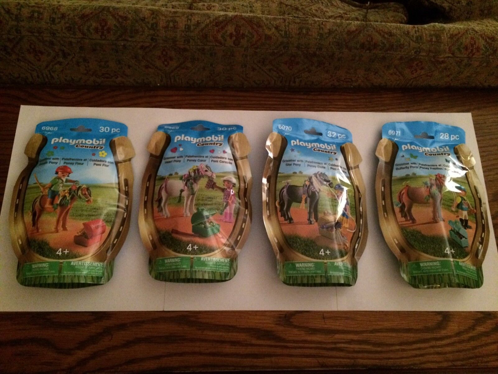 Playmobil Country Horse Set All 4   6968, 6969, 6970, 6971 Nuovo in Sealed Borsas