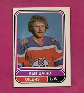 RARE-1975-76-OPC-WHA-37-OILERS-KEN-BAIRD-ROOKIE-NRMT-MT-CARD-INV-A264
