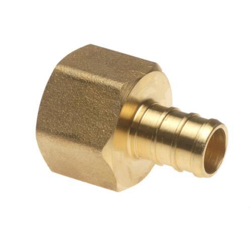 "PEX Female Adapter 1//2/"" x 1//2/"" Brass FPT x Barb 5 Per Pack NSF APXFA12125PK"