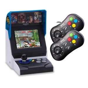 NEOGEO-Mini-Multi-Player-Bundle-Console-with-40-games-2-x-Black-Controllers