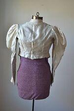 Antique Victorian Puff Sleeve Silk Top Jacket Womens XS Children Blouse