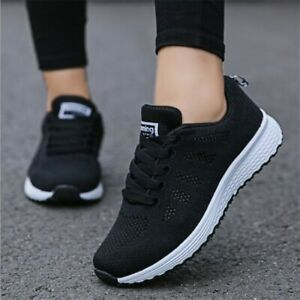 Detalles de zapatos mujer moda transpirable planos zapatillas mujer tenis Femenino deporte