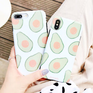 finest selection 8f842 ccb61 Details about Cartoon TPU Avocado Silicone Phone Case Cover For iPhone X 8  7 6S Plus XR XS Max