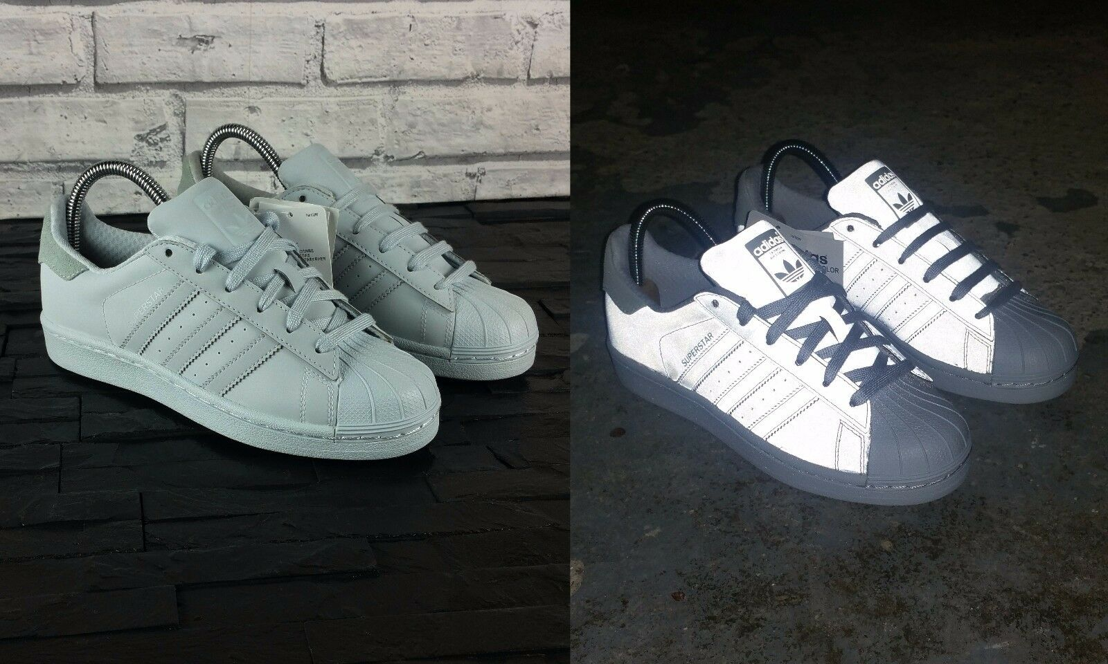 BNWB adidas originals Superstar Trainers Adicolor Halo Blue Reflective Trainers Superstar UK Size 5 42fe9a