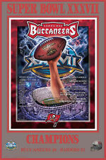 Vintage Tampa Bay Buccaneers Bucs SUPER BOWL CHAMPIONS Commemorative Poster