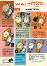 1961 ADVERTISEMENT 6 Pg Watches Waltham Webster Rototron Diamond Century 25