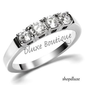 1-25-Ct-Stainless-Steel-CZ-Anniversary-Wedding-Bridal-Ring-Band-Women-039-s-Sz-5-10