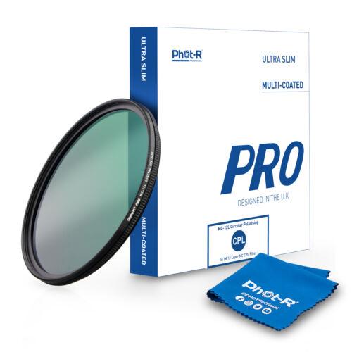 Fot-R 82mm Pro CPL 12 Layer Polarizado Ultra Delgado Multi Recubiertos Filtro + paño