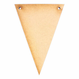 Bunting 5cm,20 X Wooden Craft Shapes.