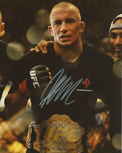 Georges-St-Pierre-Autographed-Signed-8x10-Photo-UFC-REPRINT