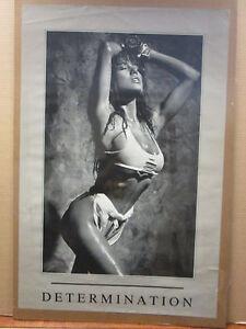 Vintage Determination original hot girl workout poster 9796 | eBay