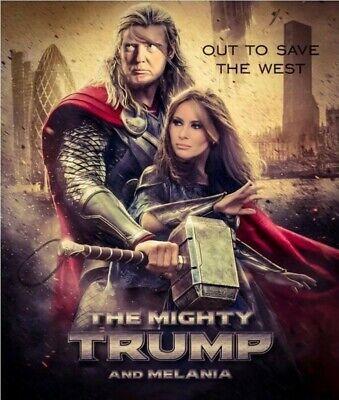 Donald Trump Melania Trump Thor Sticker DC Comics Pro TRUMP 2020 MAGA | eBay