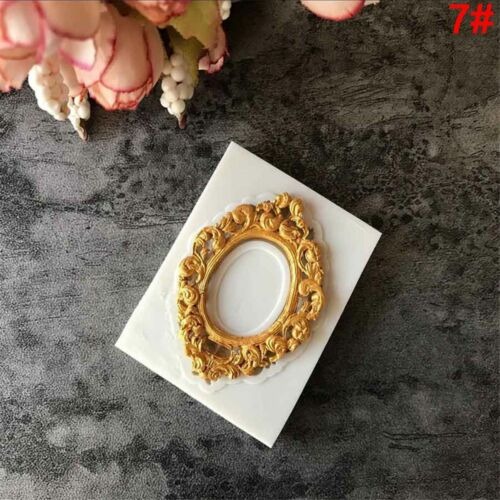 Pastry Antique Mirror Frame Silicone Mould Fondant Cake Mold Border Embossing