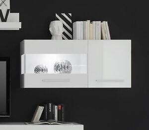 Details zu Star Hängevitrine 8cm weiß Hochglanz Wohnzimmer Hängeschrank  Modern 8