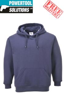 Portwest Roma casusal Workwear Sweat à capuche doux en Polyester Bleu
