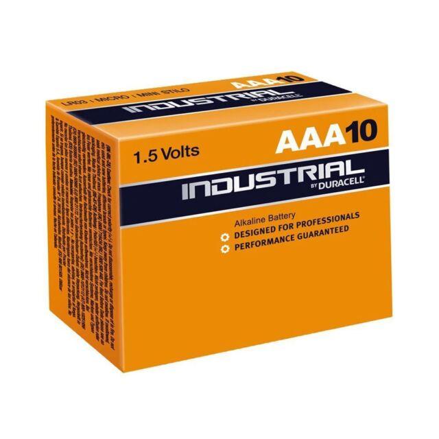 NUEVO Duracell AAA INDUSTRIAL MN2400 Baterías para cámaras/Juguetes & Más - 10