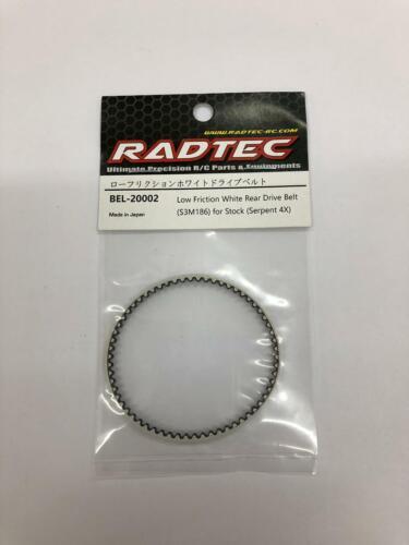 Radtec Bianco a basso attrito Posteriore Cinghia di trasmissione per Serpent 4X S411 S3M186 186