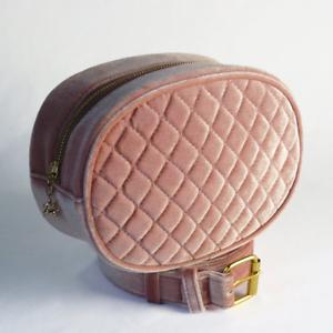 Belt Bag Clio Velvet MatelasséPêche RoseFanny Pack