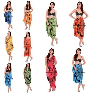 928444622f786 Indian Cotton Pareo Beach Scarf Sarong Wrap Dupatta Bikini Cover Up ...