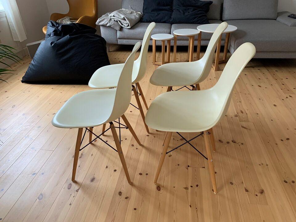Spisebordsstol, Plast og træben
