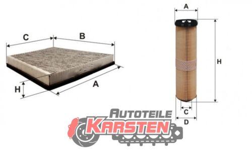 Set S Luftfilter+Innenraumfilter Inspektionssatz MERCEDES-BENZ