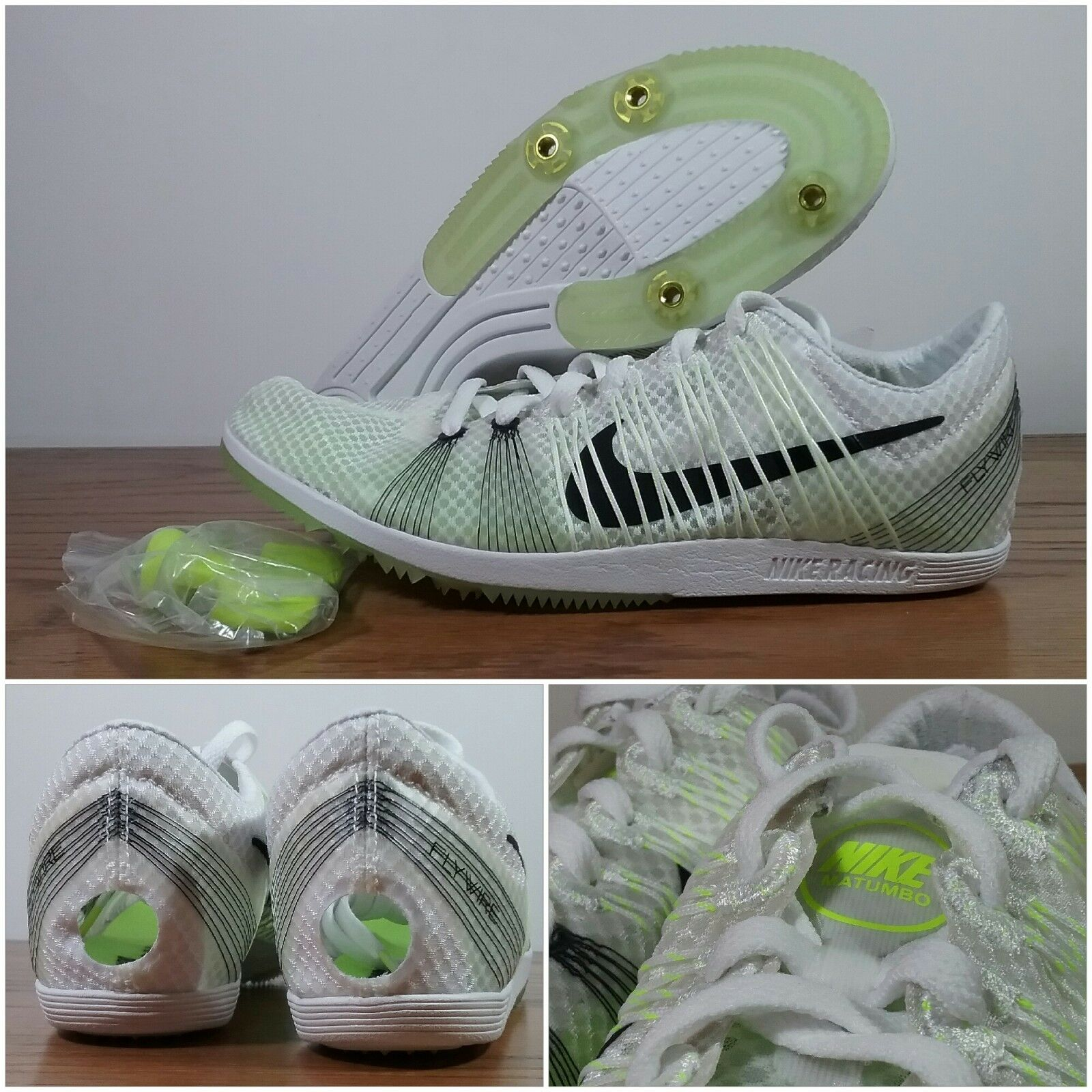 New Nike Zoom Matumbo 2 Running Racing Track Volt 526625-107 Men Sz 6.5 W Spikes