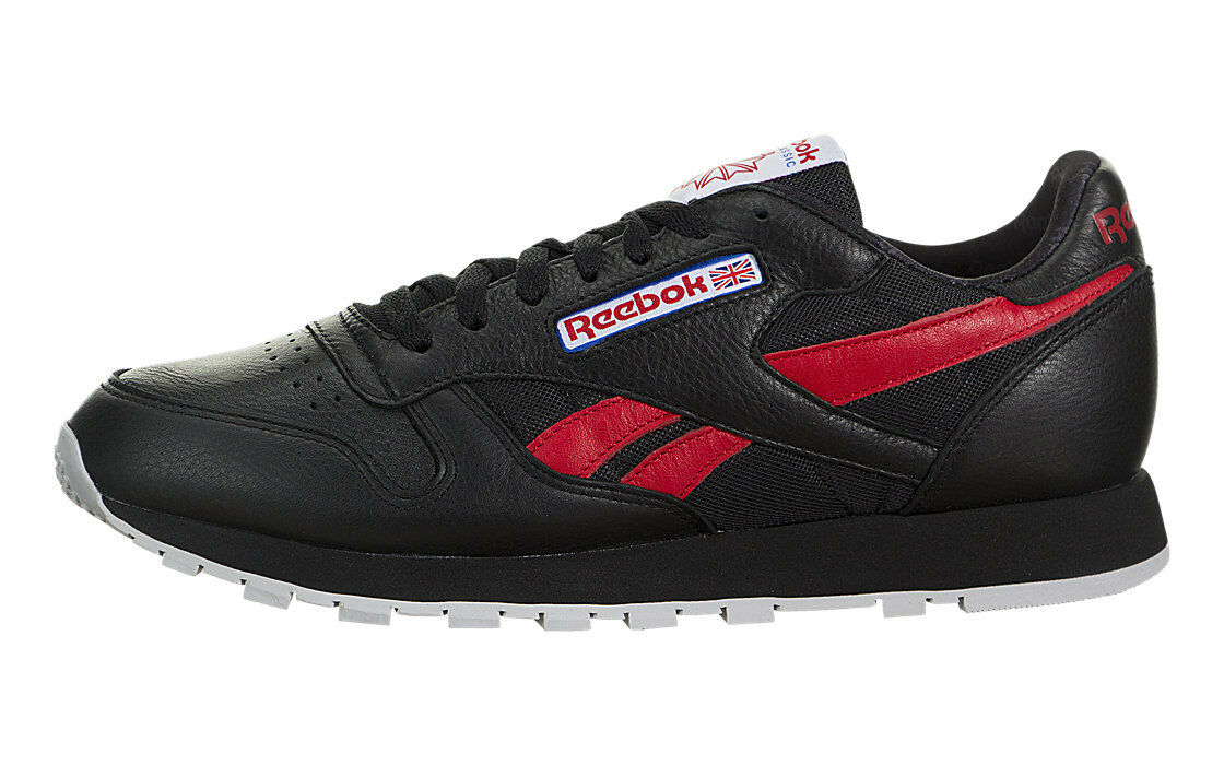 Reebok Herren Klassisch Leder so Schuhe Laufschuhe Bs5208 - Schwarz Rot Blau    | Charmantes Design