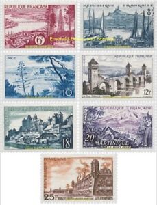 EBS-France-1955-Tourism-Landscapes-amp-Scenic-Attractions-YT-1036-1042-MNH