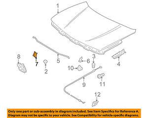 Suzuki oem 89 01 swift hood support prop rod clip clamp holder image is loading suzuki oem 89 01 swift hood support prop sciox Image collections