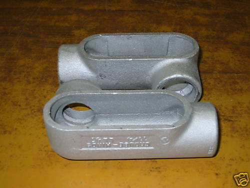 """CROUSE HINDS LL47  1-1/4""""  FORM 7 CONDULET"""