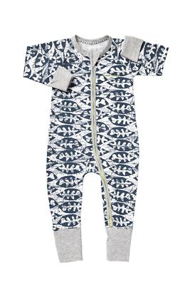 Bonds Baby Long Sleeve Zip Wondersuit Romper sizes 00 0 1 Colour Pink Grey