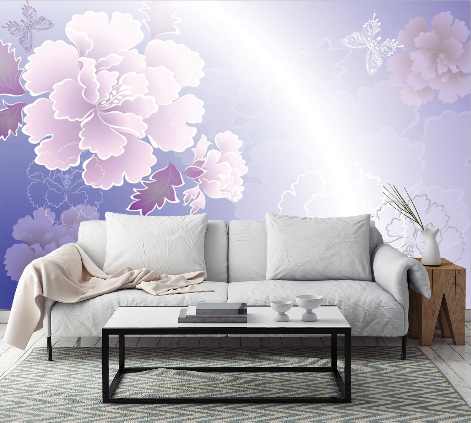3D Pretty Peony Patterns 523 Paper Wall Print Wall Decal Wall Deco Indoor Murals